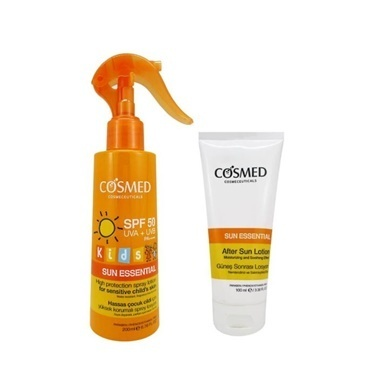Cosmed Cosmed Sun Essential Kids SPF50 Spray Lotion 200ml Set Renksiz